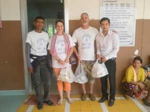 KARC team serving at Smile Cambodia