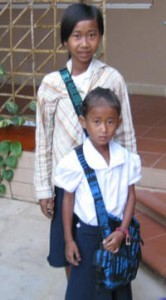 Two of the children are in school now