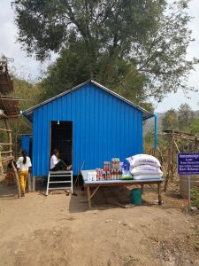 New home with food and supplies